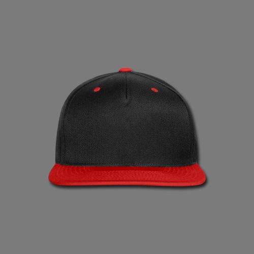 Slick Black & Red Baseball Cap - Snap-back Baseball Cap