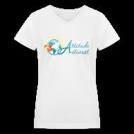T-Shirts ~ Women's V-Neck T-Shirt ~ Attitude Activist V-neck