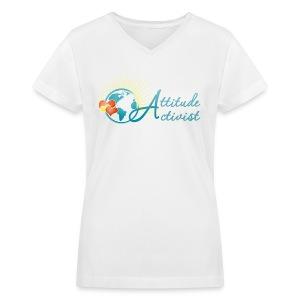 Attitude Activist V-neck - Women's V-Neck T-Shirt