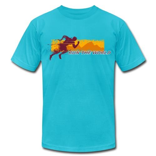 Run the World T-shirt - Men's Fine Jersey T-Shirt