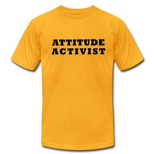 Attitude Activist T-shirt - Men's T-Shirt by American Apparel