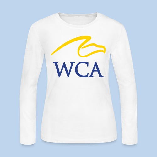 Women's LS Tee- White - Women's Long Sleeve Jersey T-Shirt