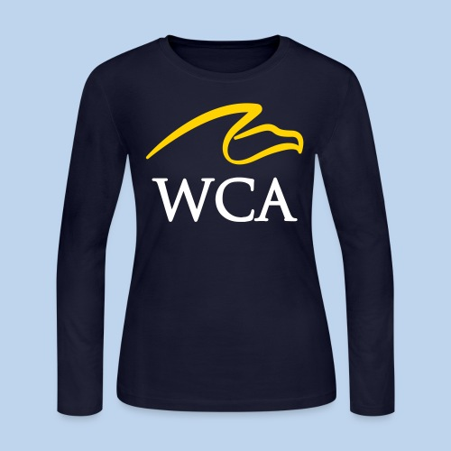Women's LS Tee- Navy - Women's Long Sleeve Jersey T-Shirt