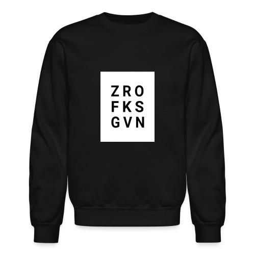 ZRO FKS GVN BLK & WHT - Crewneck Sweatshirt