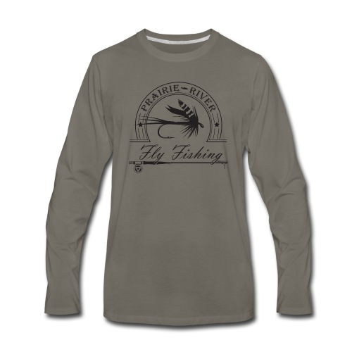 Prairie River Fly Fishing - Men's Premium Long Sleeve T-Shirt