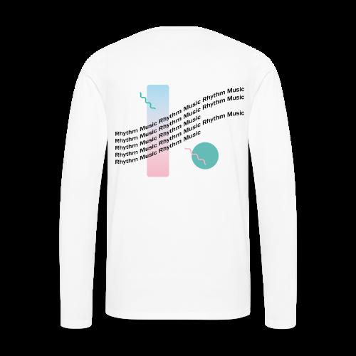 Long Sleeve Tee w/ Back Graphic - Men's Premium Long Sleeve T-Shirt
