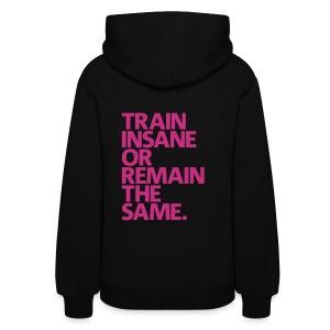 Train Insane   womens hoodie (Back Print) - Women's Hoodie