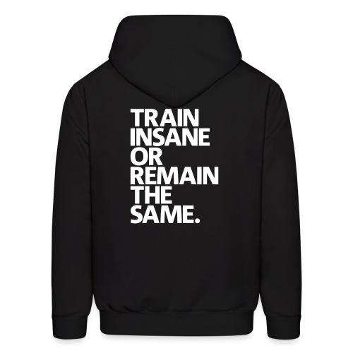 Train Insane   Mens Hoodie (Back Print) - Men's Hoodie