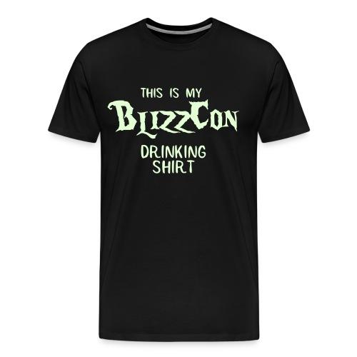 BlizzCon Drinking Shirt (Glow in the Dark Text) - Men's Premium T-Shirt
