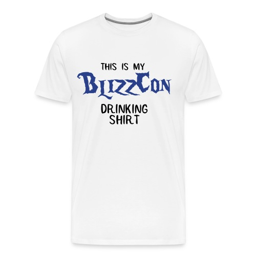 BlizzCon Drinking Shirt (Black/Blue Text) - Men's Premium T-Shirt