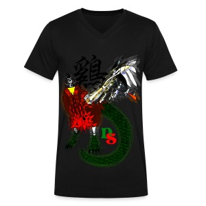 Rooster Zodiac: Cockatrice  - Men's V-Neck T-Shirt by Canvas