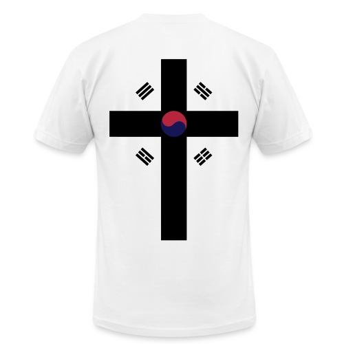 Korean Jesus - Flag - Men's  Jersey T-Shirt
