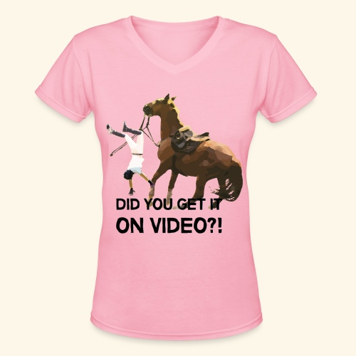 Fall sports tee - Women's V-Neck T-Shirt