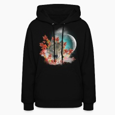Wolf Harvest Moon Hoodies