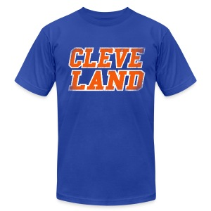 CLEVE LAND - Men's T-Shirt by American Apparel