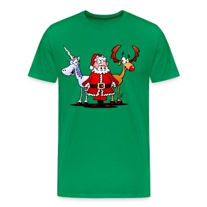 Santa, reindeer, unicorn - Men's Premium T-Shirt