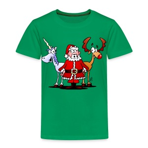 Santa, reindeer, unicorn - Toddler Premium T-Shirt