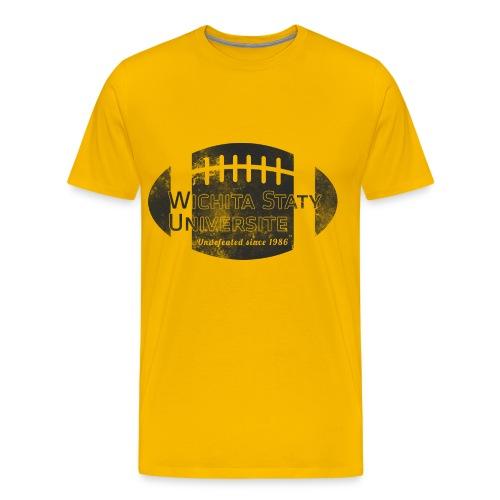 Wichita Staty Universite Football Yellow T-shirt - Men's Premium T-Shirt