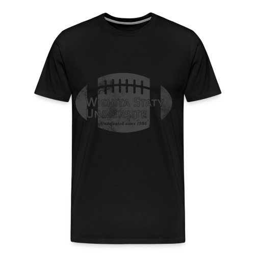 Wichita Staty Universite Football Stealth T-shirt - Men's Premium T-Shirt