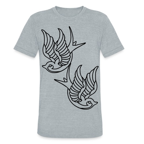 Tatto Birds - Unisex Tri-Blend T-Shirt