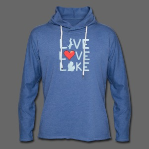 Live Love Lake - Unisex Lightweight Terry Hoodie