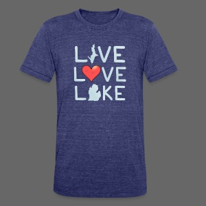 Live Love Lake - Unisex Tri-Blend T-Shirt by American Apparel