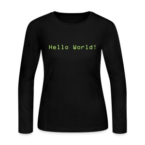 Hello World! - Women's Long Sleeve Jersey T-Shirt