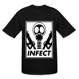 INFECT WORLD DOMINATION TALL TEE - Men's Tall T-Shirt