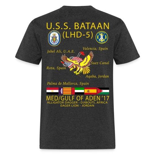 USS BATAAN (LHD-5) 2017 CRUISE SHIRT - Men's T-Shirt