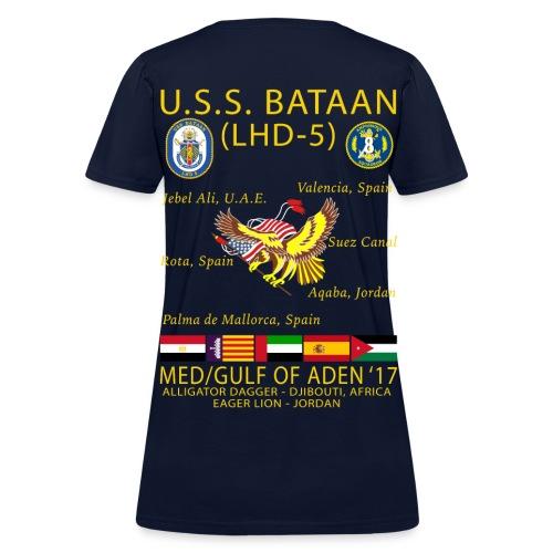 USS BATAAN (LHD-5) 2017 CRUISE SHIRT - WOMENS - Women's T-Shirt