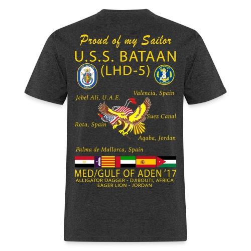 USS BATAAN (LHD-5) 2017 CRUISE SHIRT - FAMILY - Men's T-Shirt
