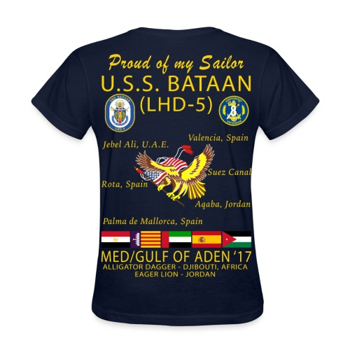 USS BATAAN (LHD-5) 2017 CRUISE SHIRT - FAMILY - WOMENS - Women's T-Shirt