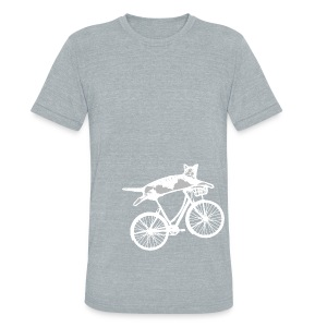 Reclining Cat Biker - Unisex Tri-Blend T-Shirt by American Apparel