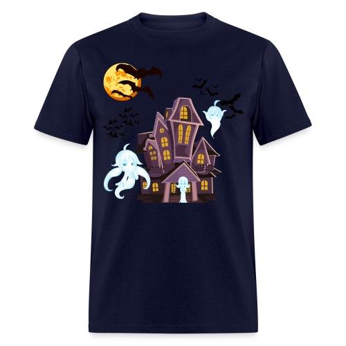 Ghost Mascots Haunted House (Mens) - Men's T-Shirt