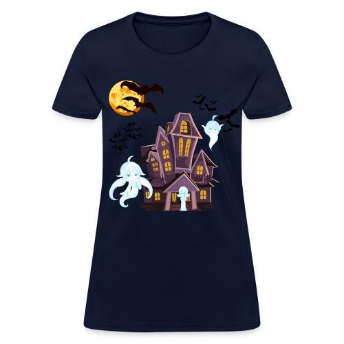 Ghost Mascots Haunted House (Womens) - Women's T-Shirt