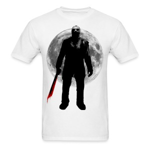 Jason Voorhees Friday the 13th full moon bloody machete t-shirt - Men's T-Shirt