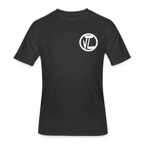 Justus Levis White Logo Tee - Men's 50/50 T-Shirt