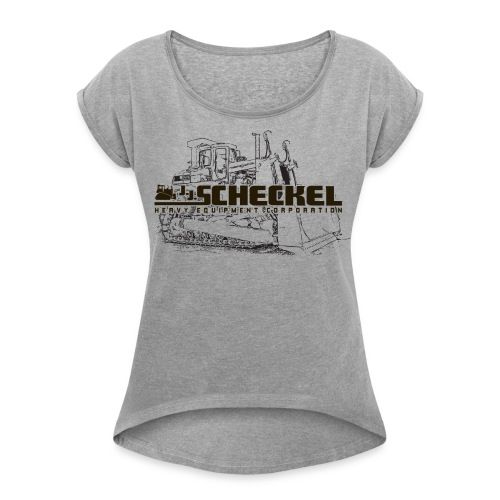 JJ Scheckel Dozer Drawing Women's Roll Cuff Tshirt - Women's Roll Cuff T-Shirt