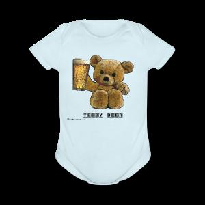 Teddy Beer Short Sleeve Baby Bodysuit - Short Sleeve Baby Bodysuit