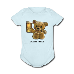 Teddy Beer Short Sleeve Baby Bodysuit - Short Sleeve Baby Bodysuit