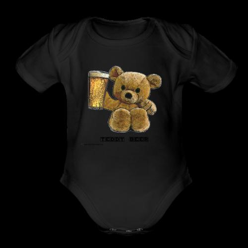 Teddy Beer Short Sleeve Baby Bodysuit - Organic Short Sleeve Baby Bodysuit