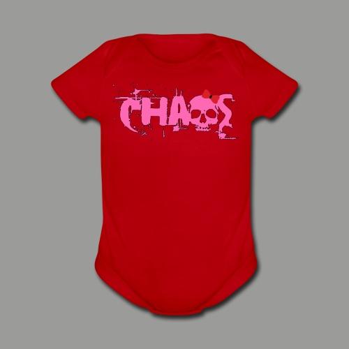 Chaos Baby (Girl) - Organic Short Sleeve Baby Bodysuit