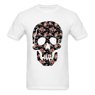 T-Shirts ~ Men's T-Shirt ~ ROSE SKULL - MENS TSHIRT