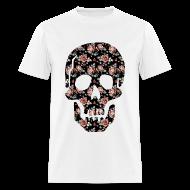 T-Shirts ~ Men's T-Shirt ~ ROSE SKULL - MENS TSHIRT