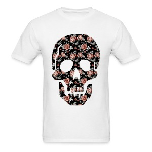 ROSE SKULL - MENS TSHIRT - Men's T-Shirt