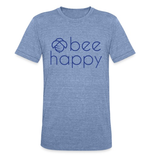 Bee Happy Tee - Unisex Tri-Blend T-Shirt