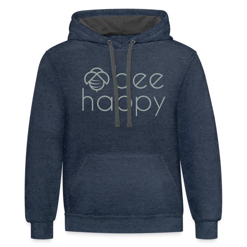 Bee Happy Hoodie - Contrast Hoodie