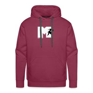 Mic Ross Male Hoodie White Mock Mtv logo - Men's Premium Hoodie