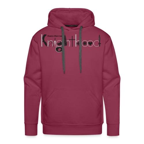 Knighthood Logo (Grey) Men's Premium Hoodie - Men's Premium Hoodie