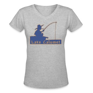 Lake Calumet - Women's V-Neck T-Shirt